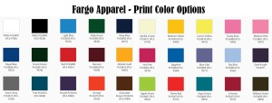 t shirt print color options