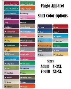 custom Shirt Color Options